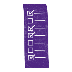 checklist purple