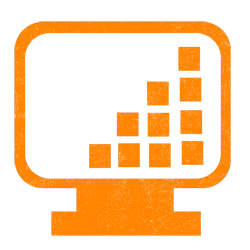 graph screen orange